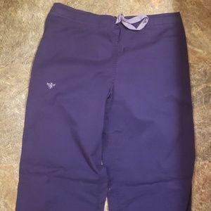 Med Couture Pants & Jumpsuits - Medium med couture plum purple scrub pants